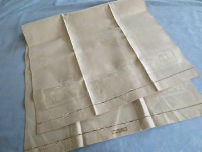 Vintage Irish Linen Damask Huck Cloth Towel Never-Used with Tag