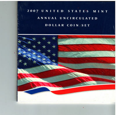 2007 - United States Mint Annual Uncirculated Dollar Coin Set!! (UNOPENED)