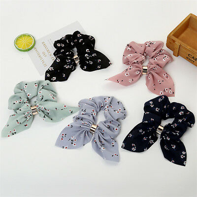 Women Elastic Hair Bow Knot Scrunchi Hair Rope Ponytail Holder Hair Accessories