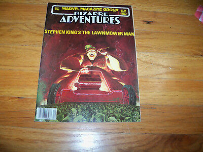 Marvel magazine Group Bizarre Adventures Comic 1981 Stephen King's Lawnmower Man