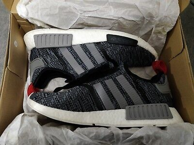 online store 0c390 e520c Mens ADIDAS NMD R1 BB2884 Glitch Camo Core Black Grey Red Size 9.5 Shoes W