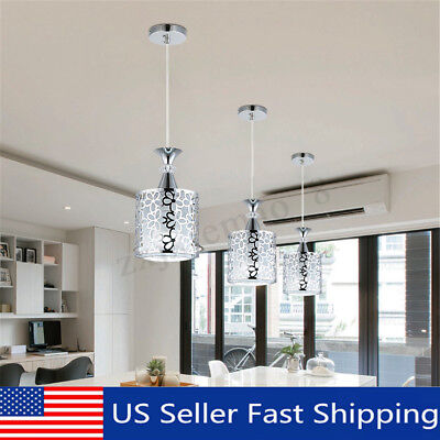 Crystal Iron Ceiling Light Pendant Lamp Dining Room Chandelier Modern Home Decor