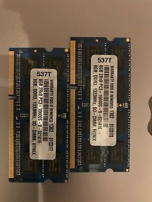 Hynix 16GB PC3-10600S-9-021816 2X8GB, DDR3, 1333MHz, SO-DIMM Macbook Pro