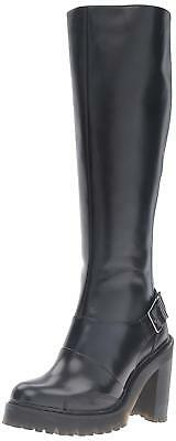 0f485f48204 DR. MARTENS NEW Lyanna US 8 Black Polished Buttero Knee High Boot ...