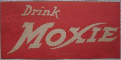 Vintage MOXIE advertising sign dated 1915 / soda
