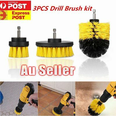 3pcs/set 2/ 3.5/ 4 inch Tile Grout Power Scrubber Cleaning Drill Brush PJ