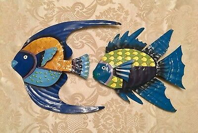 Beautiful Vintage Set Of 2 Fish Wall Art Tropical Sculpture Decor(Sale!)