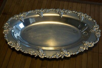 Sheffield Original Antique Silverplate TRAY - Hardy Bros - Made in England