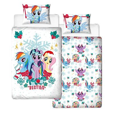 My Little Pony Holly Christmas Single Duvet Cover Set Reversible Bedding