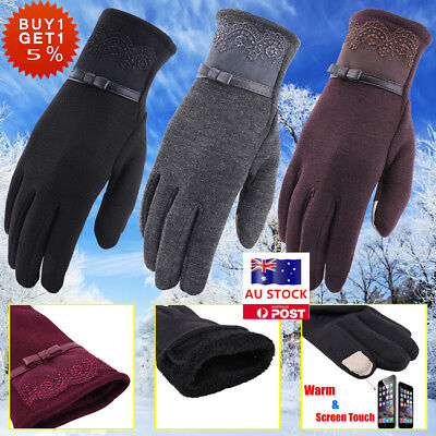 Women Winter Screen Touch Warm Gloves Thermal Outdoor Ski Sport For Smart Phone