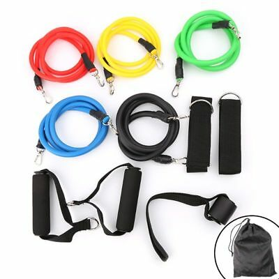11pcs/set Fitness Training Latex Bands Resistance Crossfit Yoga Tubes Pull Rope