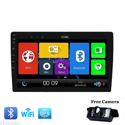 """10.1"""" Android 7.1 1Din Car Radio GPS Nav Wifi OBD2  Touch Stereo Bluetooth Cam"""