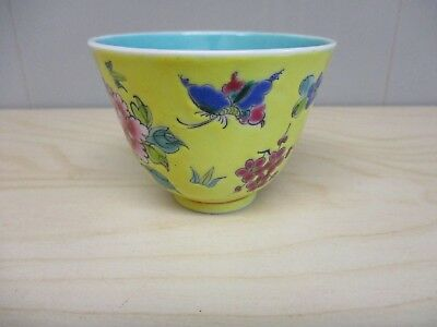Chinese porcelain  tea bowl /  late 19th /early 20th. C.