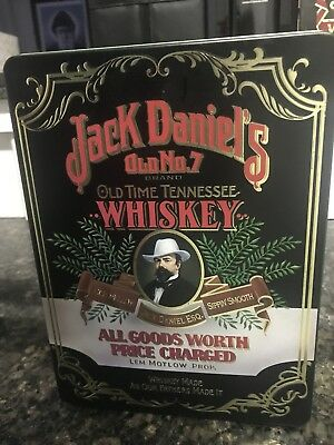 Extremely Rare Jack Daniels Old No.7 Brand Old Time Tennessee Whiskey Tin