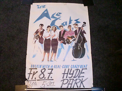 Concert Poster The Ace Cats Rockin with a real gone ctazy beat P 1982 Rockabilly