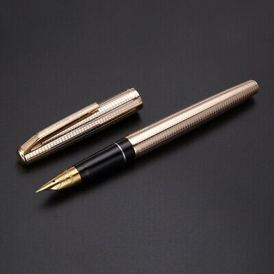 Vintage Wing Sung 235 Aluminum Round Fountain Pens Fine Nib Stainless Steel Gift