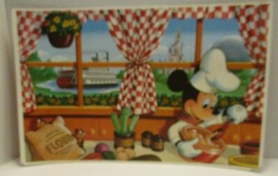 Walt Disney World Mickey Mouse Chef Placemat Chip Dale Epcot