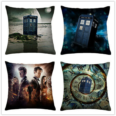 Doctor Who Cushion Cover Cotton House Home Decorative Throw Pillow Cover