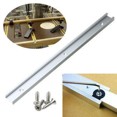 400mm T-track T-slot Miter Track Jig Fixture Woodwor Tool for Router Table Screw