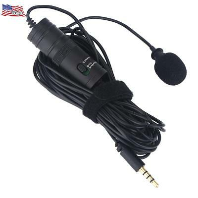 Clip-on Lavalier Omni-directional Condenser Microphone for Smartphone & DSLR