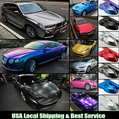 Decors Car Pearl Metal Satin Matte Metallic Chrome Vinyl Wrap Sticker Decal ABUS
