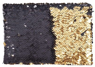 "Mini Flippy Sequin Slipin Photo Album Holds 36 6""x 4""(10x15cm) Photos Black/Gold"
