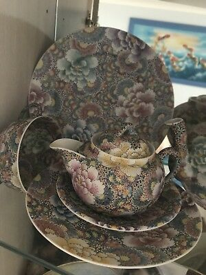 Ming Dynasty Rare Japanese Egg-Shell Porcelain Teapot ,sugar ,milk Set