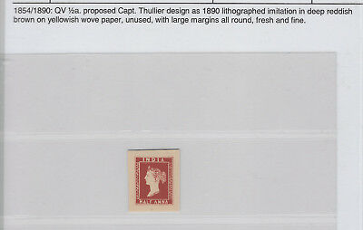 INDIA UNTIL1947-1854-90QV 1/2a-UNUSED WITH LARGE MARGINS ALL AROUND-FRESH & FINE