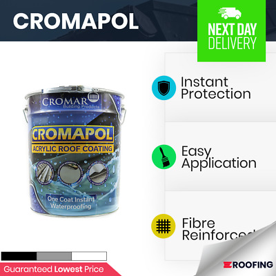 Cromapol | Acrylic Roof Coat | Roof Paint Sealant | Instant Protection 20kg