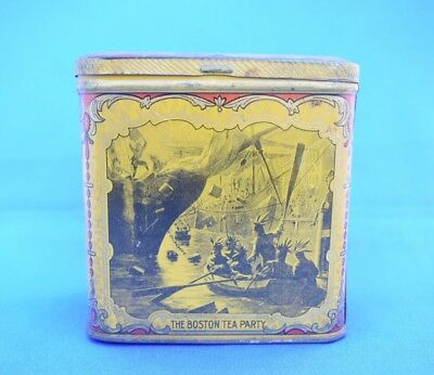 Boston Tea Party Vintage Tin Can from Webster - Thomas Tea & Coffee Co.