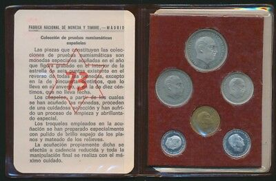 Spain 1973 6 Coin Proof Set Cat US$160