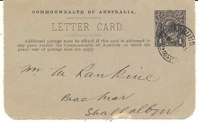 Cover Royal Australian Navy destroyer HMAS Yarra letter card Narrung stores 1916
