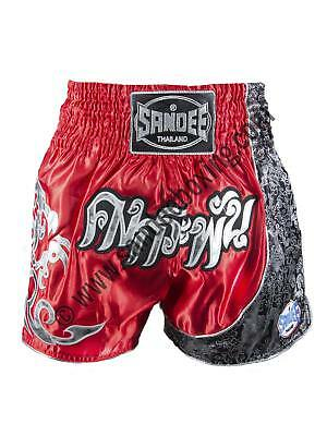Sandee Unbreakable Red/Black/White Thai Kick Boxing Shorts