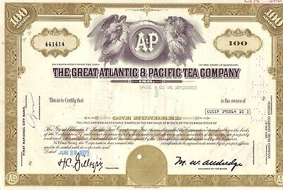 The Great Atlantic & Pacific Tea Company Aktie 06-29-1971