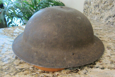 WW1 US Helmet with complete liner and chinstrap