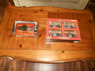 Harley Davidson Lot of 2  Diecast Models Metal & Plastic NIB