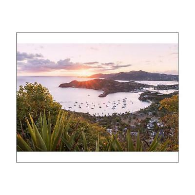 """17827808 10""""x8"""" (25x20cm) Print Overview of English Harbour from..."""