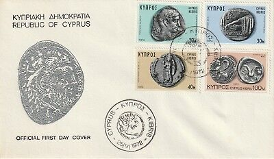 1972 Cyprus Ancient Coins Of Cyprus First Day Cover Shs