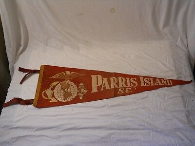 Parris Island S.c. Pennant   Red
