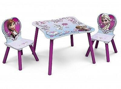Delta Children Disney Frozen Table and Chair Set, Kids Activity Table & 2 Chairs