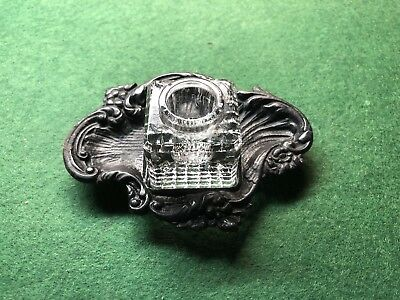 Antique Art Nouveau Ink Well Inkwell