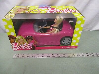 Barbie Doll Accessories 2016 Sparkly Glam Convertible DJR55 Pink Car toy Figure