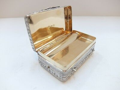 Antique Georgian Sterling Silver Music Box Musical Snuff Box (Watch Video)