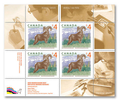 2018-Canada -Rocky Mountain Bighorn Sheep: Pane of 4 stamps  -MNH