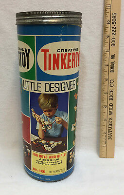 Vintage Tinkertoy Little Designer Set Construction Toys With