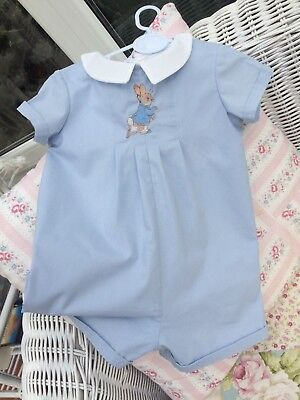 Baby Clothes Peter Rabbit -  Baby Blue Romper Suit - Peter Rabbit
