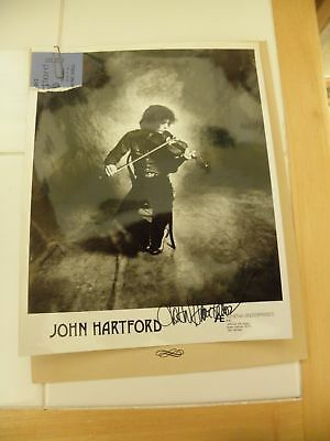 John Hartford Original 1973 AUTOGRAPHED Photo, Press Release, Ticket Stub GSEMH