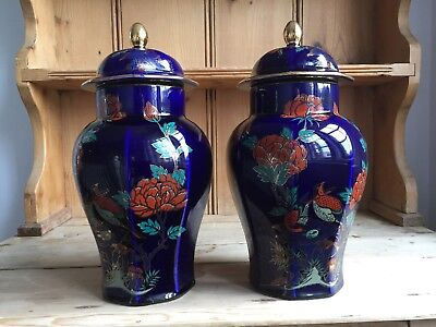 Arklow Ware Pair Of Ginger Jars. Immaculate