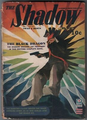 "THE SHADOW Magazine March 1, 1943 ""The Black Dragon"""