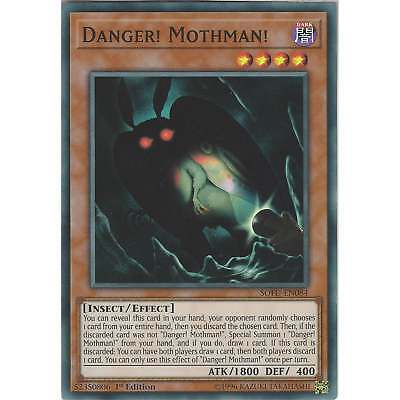 Yu-Gi-Oh! TCG: Danger! Mothman! - SOFU-EN084 - Super Rare Card - 1st Edition